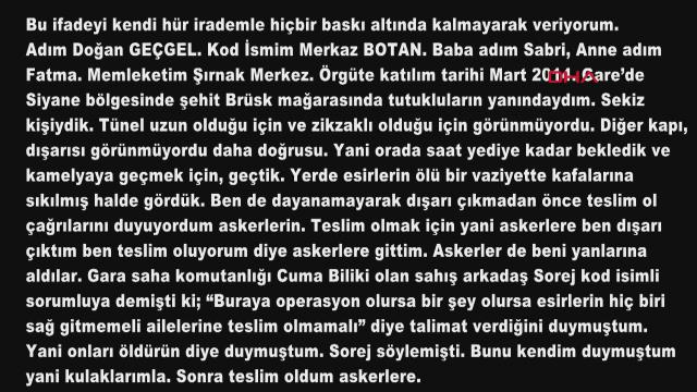 Gara'da vatandaşlarımızı şehit eden hainlerin korkunç itirafları ortaya çıktı: İnfaz talimatı verildi