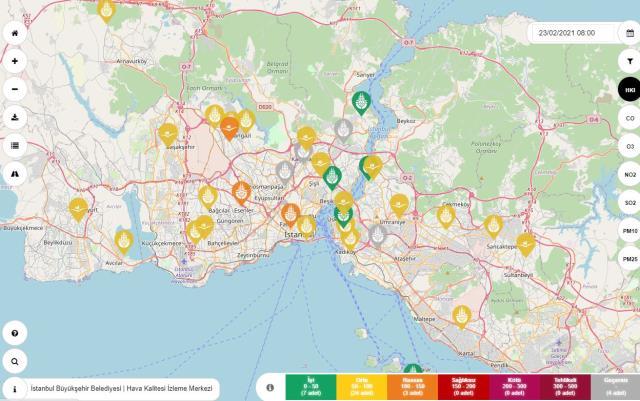İstanbul'da korkutan görüntü! Hava kirliliği Sultangazi, Aksaray, Esenler, Bağcılar ve Kadıköy'de 'hassas' seviyeye ulaştı