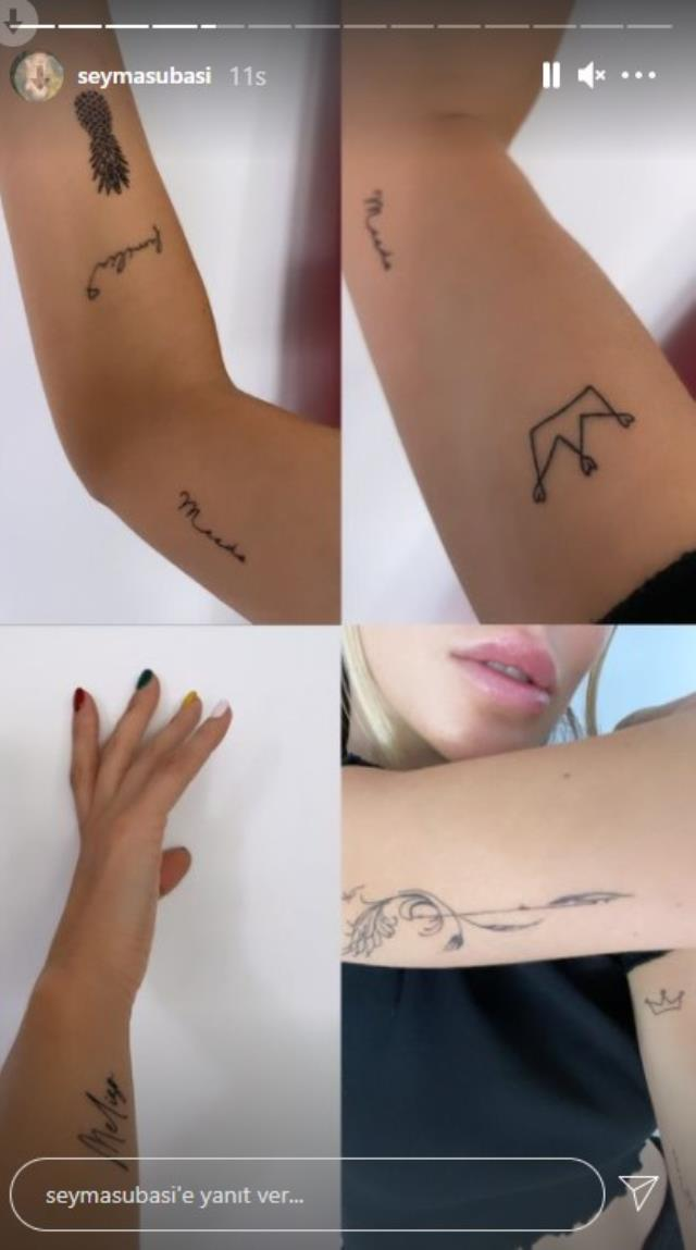 Şeyma Subaşı, Mısırlı sevgilisinin adını koluna dövme yaptırdı
