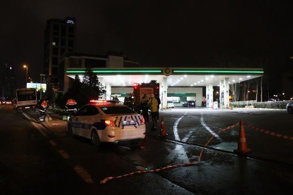 Beşiktaş'ta kontrolden çıkan cip benzin istasyonuna girerek takla attı