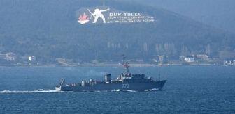 Savaş Gemisi: Rus ve Yunan savaş gemileri peş peşe Çanakkale Boğazı'ndan geçti
