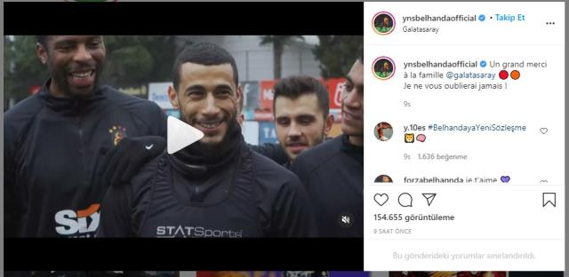 Younes Belhanda's Instagram post strengthened claims that he will leave the team