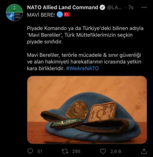 NATO Müttefik Kara Komutanlığı: Mavi Bereliler, Türk müttefiklerimizin seçkin piyade sınıfıdır