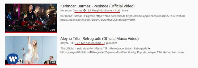 Şarkıları aynı anda yayınlandı! Kerimcan Durmaz, Aleyna Tilki'yi fena solladı