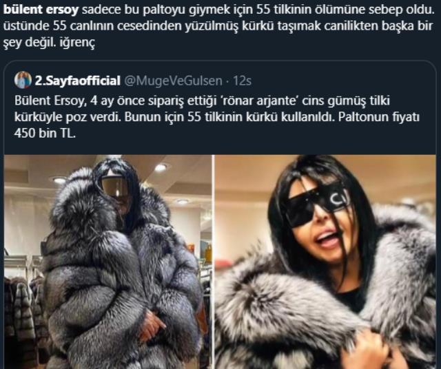 Bülent Ersoy'un 55 tilkinin katledilerek yapıldığı paltosuna tepkiler çığ gibi büyüdü