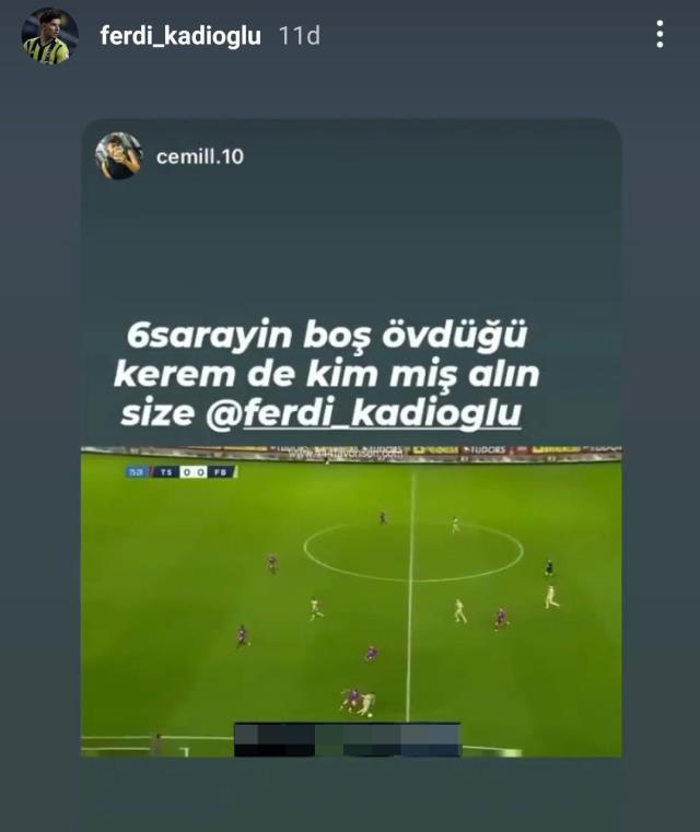 Ferdi Kadıoğlu's social media post after Trabzonspor match drew reaction