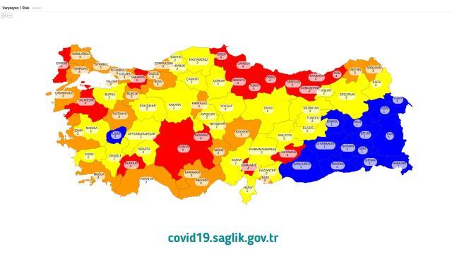 Orta riskli iller hangileridir? Orta Risk (Sarı) grubunda bulunan şehirler hangileri?