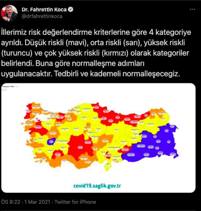 Riskli şehirler hangileri? İstanbul, Ankara, İzmir riskli bölge mi? İl il risk haritası!