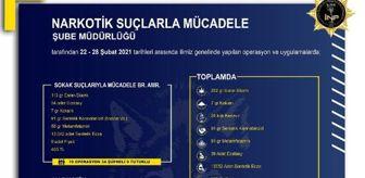 Kokain: İzmir'de, 1 haftada uyuşturucu operasyonlarına 15 tutuklama