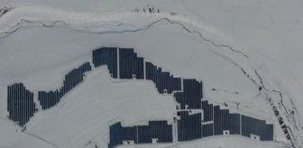 Aziziye: Karla kaplı araziye güneş enerji sistemi kuruldu, 900 hanenin enerji ihtiyacını karşılayacak
