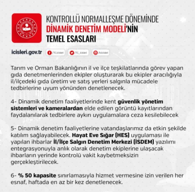 İçişleri Bakanlığından 81 ile korona tedbirlerine yönelik 'Dinamik Denetim Süreci' konulu genelge gönderildi