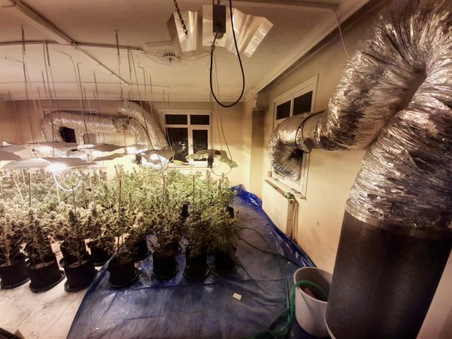 Seraya çevrilen çatı katı dairede 1 milyon TL değerinde uyuşturucu ele geçirildi