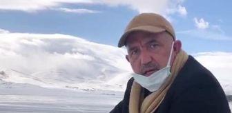 Mustafa Ilıcalı: Buzlanan göl üzerinde bisiklet süren Prof. Dr. Ilıcalı: Covid-19 bulaşma riskini azaltacak
