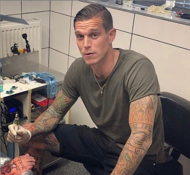 Daniel Agger, former football player of Liverpool, becomes tattoo artist after quitting football