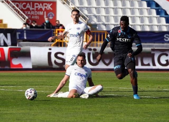 Süper Lig'in 28. haftasında Trabzonspor deplasmanda Kasımpaşa'yı 2-1 yendi
