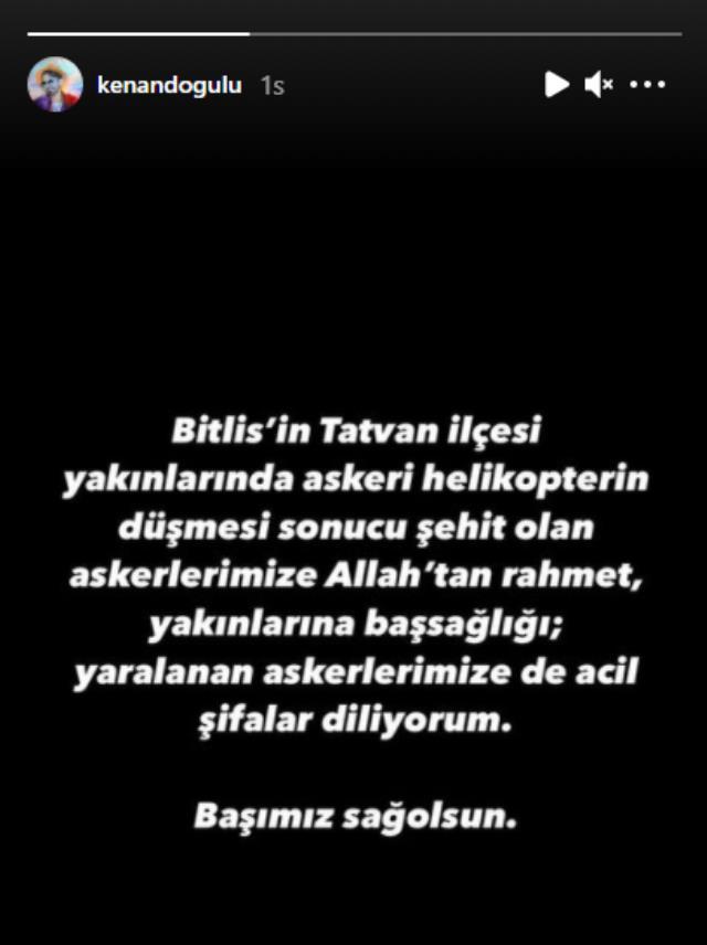 Türkiye'yi kahreden helikopter kazası sonrası ünlü isimlerden art arda taziye mesajları geldi