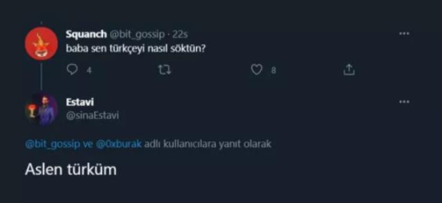 Dünyanın ilk ve en pahalı tweetini Türk iş insanı Sina Estavi satın aldı
