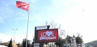 Mehmet Saygılı: Kahramanmaraş'ta 'Love Erdoğan' görseli LED ekranlara yansıtıldı