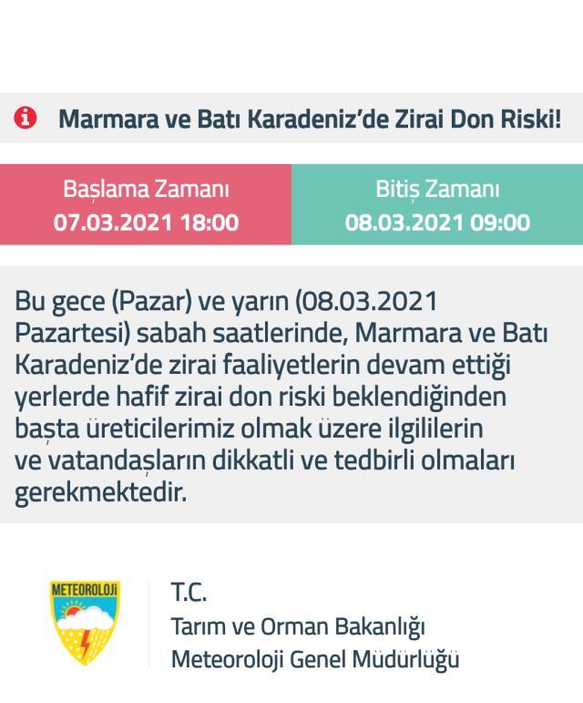Meteoroloji'den İstanbul dahil 19 il için sarı uyarı