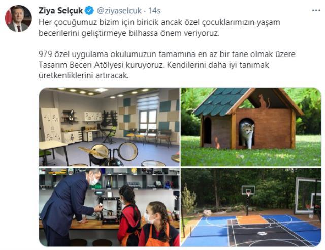 Bakan Ziya Selçuk'un 'özel eğitim' paylaşımındaki görseller sosyal medyada gündem oldu