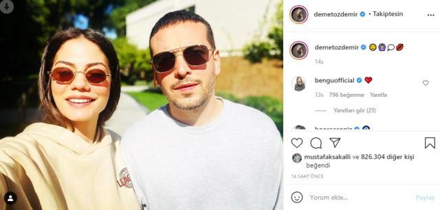 Demet Özdemir ve Oğuzhan Koç'tan yeni fotoğraf! 'Uyumlu ikili'