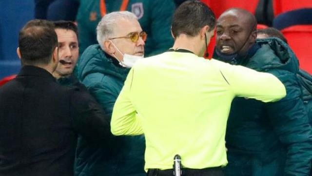 Penalty of referee Sebastian Coltescu for racist remarks to Pierre Webo