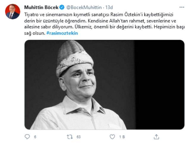 Rasim Öztekin'in vefatı siyaset, magazin ve iş dünyasını yaza yoğdu