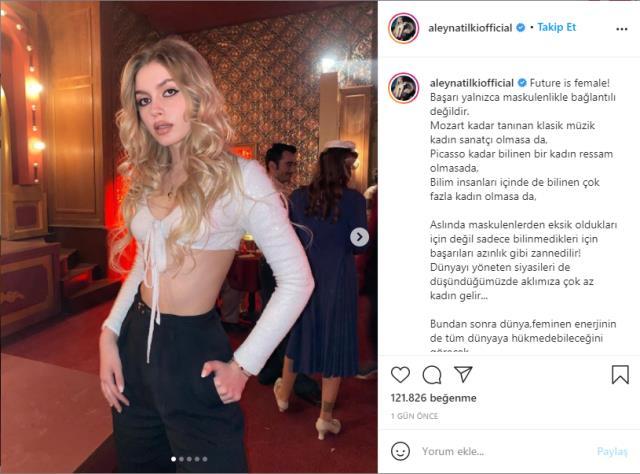 Makyajı abartan Aleyna Tilki, eleştiri oklarının hedefi oldu: Boya reklamı mı bu?