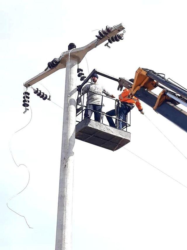 Altıntaş'ta mesire alanı enerji nakil çalışmaları