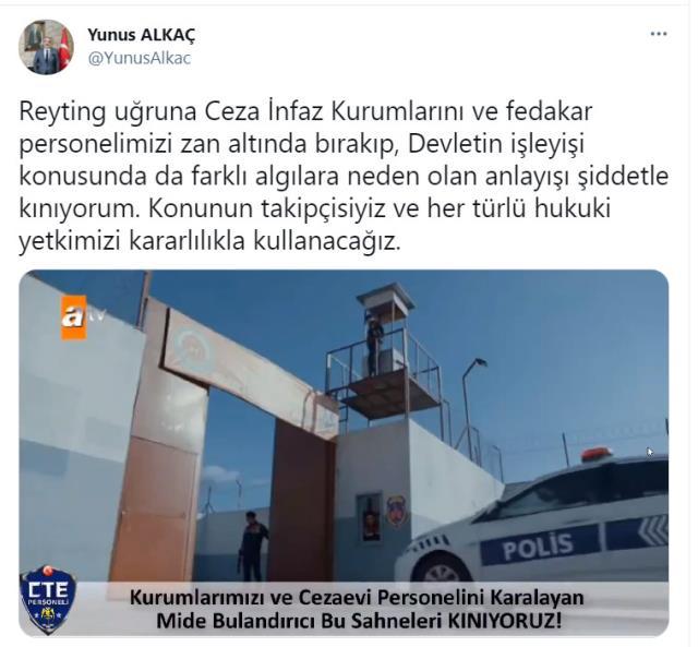 ATV'nin'Akıncı' dizisindeki cezaevi sahnesi, Adalet Bakanlığı'nda büyük rahatsızlığa neden oldu
