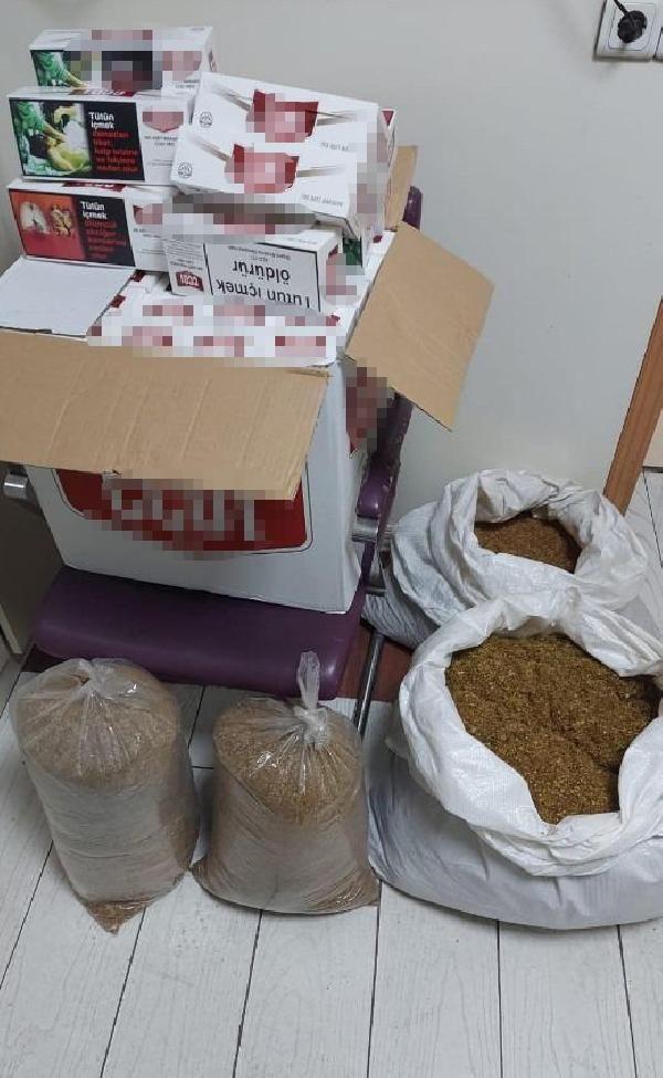 Çekmeköy'de 24 kilo 950 gram tütün ele geçirildi