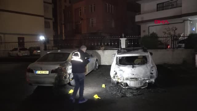 Kundaklanan otomobil kullanılmaz hale geldi, yanındaki lüks otomobil de hasar gördü