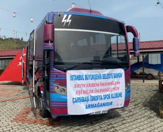 İmamoğlu'nun kız voleybol takımına hediye ettiği otobüs Trabzon'u karıştırdı! CHP ve MHP il başkanları karşı karşıya geldi