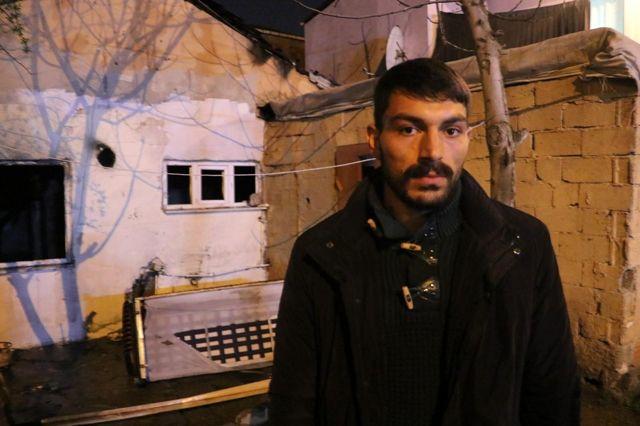 Komşusuna gitti, evi alev alev yandı