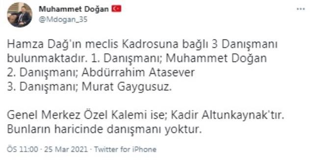 Kürşat Ayvatoğlu kimdir? AK Parti 'li Hamza Dağ'ın danışmanı Muhammed Doğan açıklamalarda bulundu