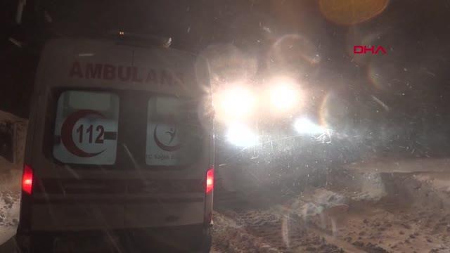Yolu kardan kapalı köyde hastalanan Yusuf bebek için 13 saat süren seferberlik