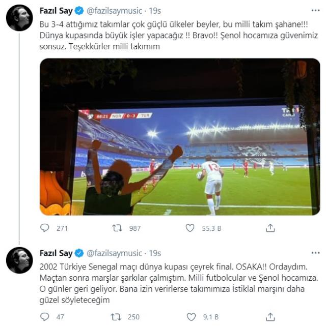 Fazıl Say: If they let me, I will make our team sing the Turkish National Anthem better.