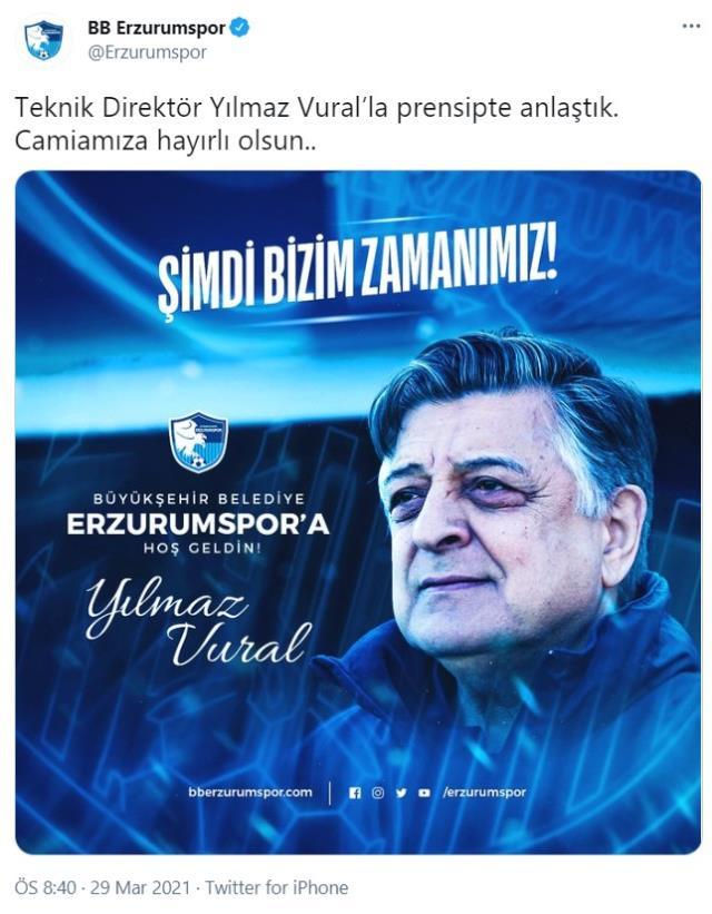 Yilmaz Vural period in BB Erzurumspor