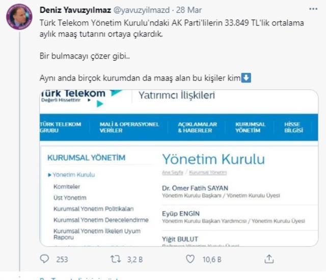 CHP'li Yavuzyılmaz'dan bomba iddia: Cumhurbaşkanı Başdanışmanı Yiğit Bulut'un aylık maaşı 200 bin lira