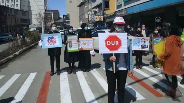 Doğu Anadolu'da 'Yaya Önceliği Kırmızı Çizgimizdir' etkinliği düzenlendi