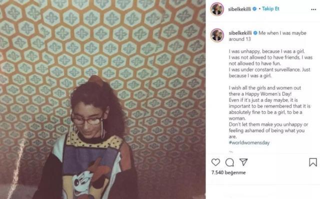 Sibel Kekilli 13 yaşındaki halini paylaştı, fotoğraftan çok altına düştüğü not dikkat çekti