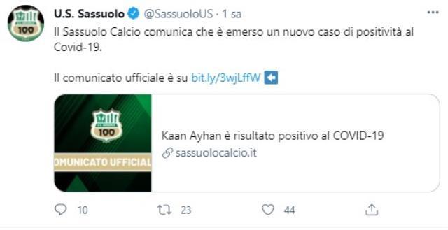 Sassuolo'da forma giyen milli futbolcu Kaan Ayhan koronavirüse yakalandı