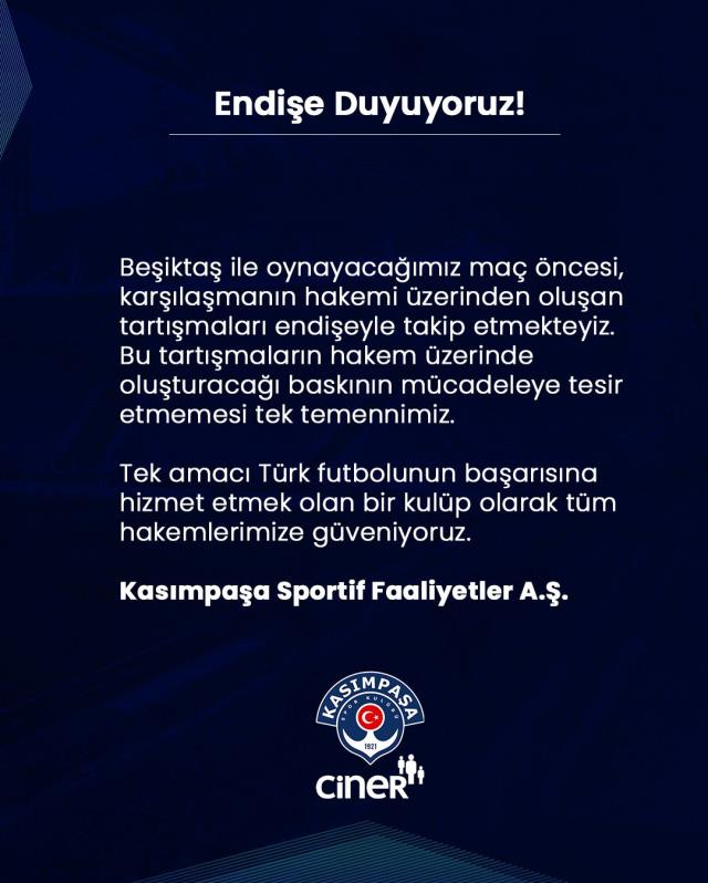 Beşiktaş referee was transferred to MHK through Meler, Kasımpaşa Club was also involved in the discussion.