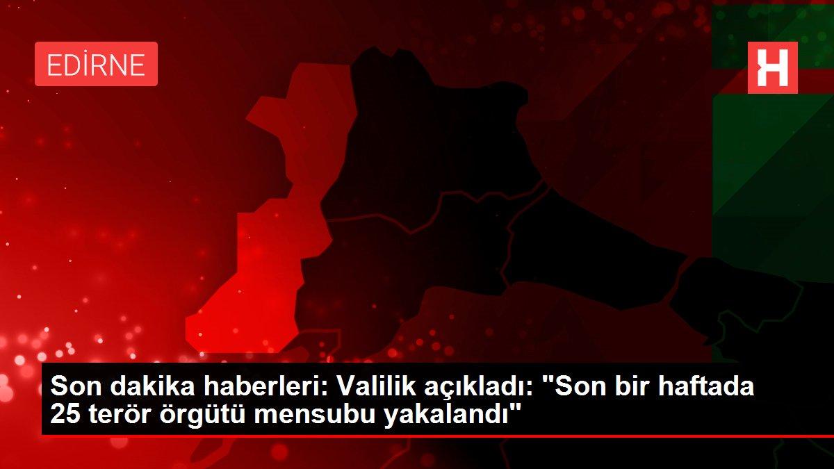 Son dakika haberleri: Valilik açıkladı: 'Son bir haftada 25 terör örgütü mensubu yakalandı'