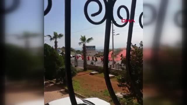 Antalya'da 'Mehteranlı gelin alma' merasimi pes dedirtti