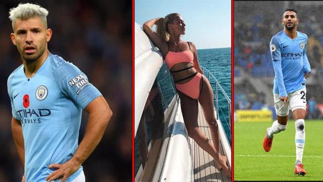 Instagram phenomenon college student mannequin disrupts Manchester City's two star footballers