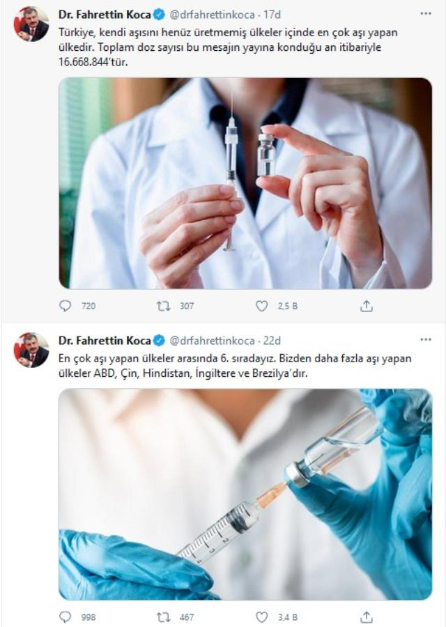 Türkiye'de kaç doz aşı yapıldı? Sağlık Bakanı Koca, son rakamları paylaştı
