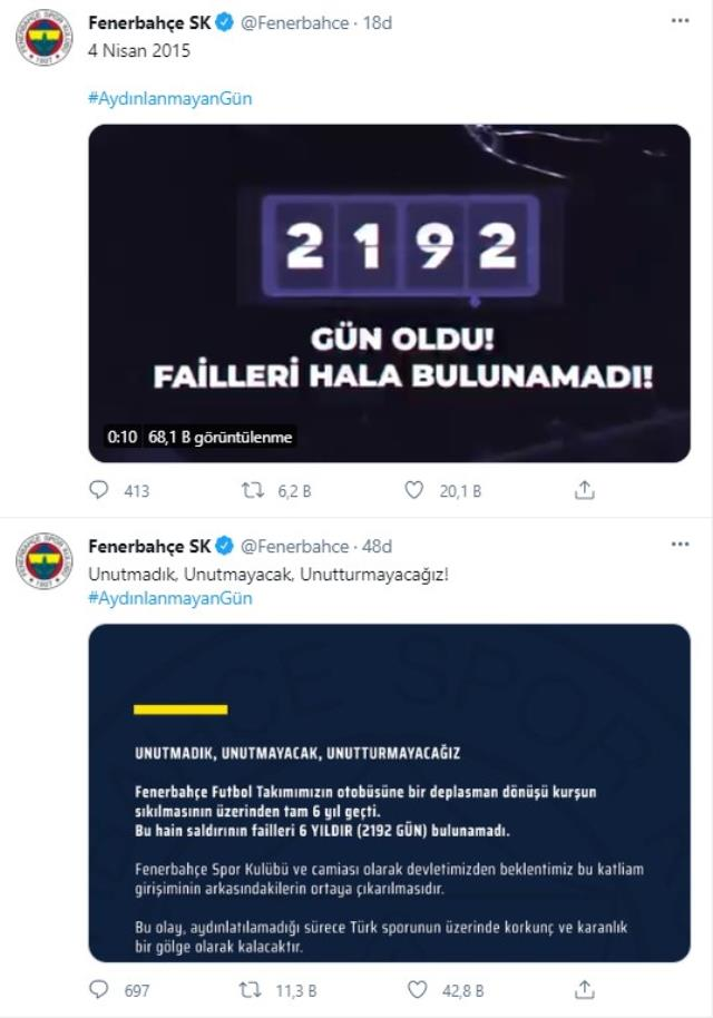 Fenerbahçe and the fans shouted from social media: Unenlightened day