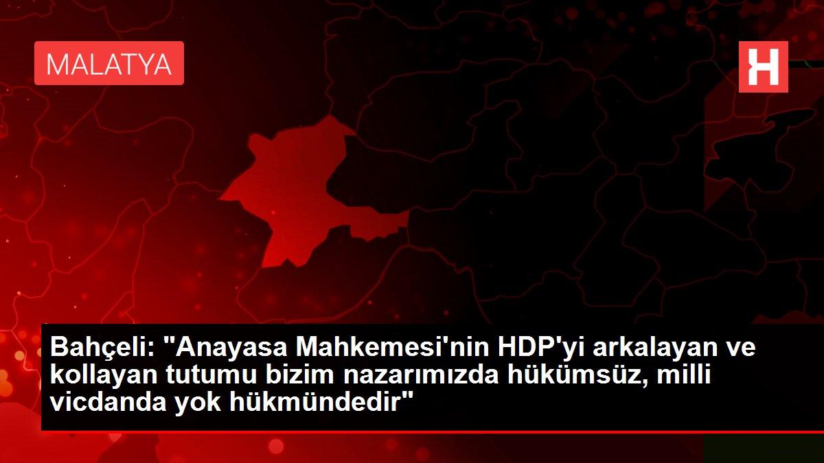 MHP Genel Başkanı Devlet Bahçeli'den Anayasa Mahkemesi ve HDP açıklaması