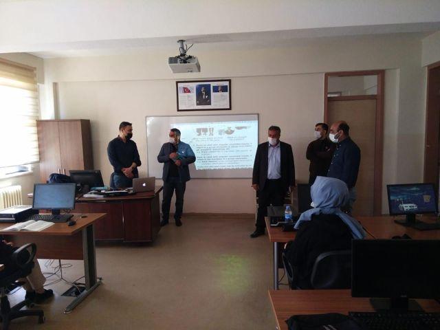 Kahta'da destekleme ve yetiştirme kursları denetlendi